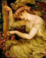 A Sea Spell painting reproduction, Dante Gabriel Rossetti