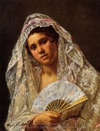 A Seville Belle painting reproduction, Mary Cassatt