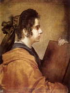 A Sibyl Juana Pacheco painting reproduction, Diego Velazquez