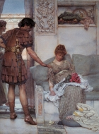 A Silent Greeting painting reproduction, Sir Lawrence Alma-Tadema