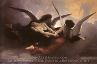 A Soul Brought to Heaven painting reproduction, William A. Bouguereau