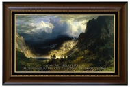 A Storm in the Rocky Mountains, Mt. Rosalie painting reproduction, Albert Bierstadt