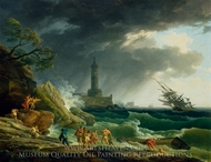 A Storm on a Mediterranean Coast painting reproduction, Claude-Joseph Vernet