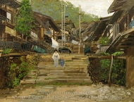 A Street in Ikao painting reproduction, Theodore Wores