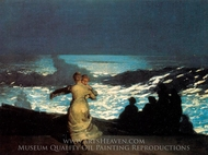 A Summer Night painting reproduction, Winslow Homer