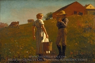 A Temperance Meeting (Noon Time) painting reproduction, Winslow Homer