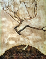 A Tree in Late Autumn painting reproduction, Egon Schiele