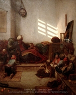 A Turkish School painting reproduction, Alexandre Gabriel Decamps