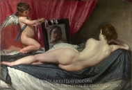 A Venus at Her Mirror painting reproduction, Diego Vel�zquez
