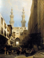 A View In Cairo painting reproduction, David Roberts