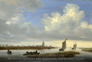 A View of Deventer seen from the North-West painting reproduction, Salomon Van Ruysdael