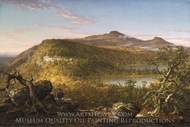 A View of the Two Lakes and Mountain House, Catskill Mountains painting reproduction, Thomas Cole