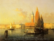 A View of Venice from Isola di St. Georgio painting reproduction, Antoine Bouvard