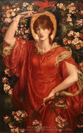 A Vision of Fiammetta painting reproduction, Dante Gabriel Rossetti