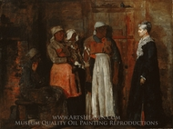 A Visit from the Old Mistress painting reproduction, Winslow Homer