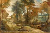 A Wagon Fording a Stream painting reproduction, Peter Paul Rubens