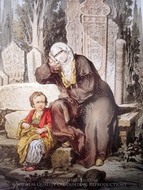 A Woman and Her Child painting reproduction, Amedeo Preziosi