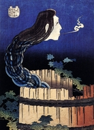 A Woman Ghost Appeared from a Well painting reproduction, Katsushika Hokusai