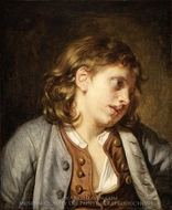 A Young Peasant Boy (Head of a Young Boy) painting reproduction, Jean Baptiste Greuze