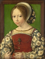 A Young Princess (Dorothea of Denmark) painting reproduction, Jan Gossaert