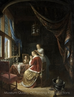 A Young Woman at her Toilet painting reproduction, Gerrit Dou