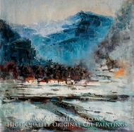Abstract Landscape and Mountains painting reproduction, Various Artist