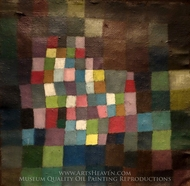 Abstraction with Reference to a Flowering Tree painting reproduction, Paul Klee