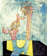Abstracto painting reproduction, Roberto Matta