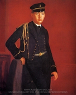Achille Degas in the Uniform of a Cadet painting reproduction, Edgar Degas