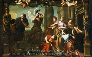 Achilles Among the Daughters of Lycomedes painting reproduction, Henry Benbridge