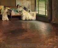 Across the Room painting reproduction, Edmund Charles Tarbell