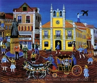 Across Town by Cab painting reproduction, Emil Pavelescu