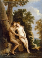 Adam and Eve in Paradise painting reproduction, David Teniers, The Younger