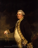 Admiral Augustus Keppel painting reproduction, Sir Joshua Reynolds