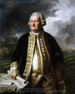 Admiral Clark Gayton painting reproduction, John Singleton Copley
