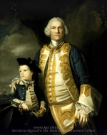 Admiral Francis Holbourne and His Son, Sir Francis, 4th Baronet painting reproduction, Sir Joshua Reynolds