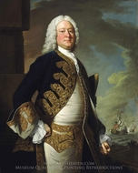 Admiral John Byng painting reproduction, Thomas Hudson