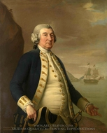 Admiral William Parry painting reproduction, John Francis Rigaud
