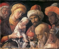 Adoration of the Magi painting reproduction, Andrea Mantegna