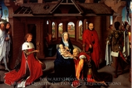 Adoration of the Magi painting reproduction, Hans Memling
