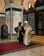 After Prayer painting reproduction, Rudolph Ernst
