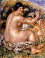 After the Bath painting reproduction, Pierre-Auguste Renoir
