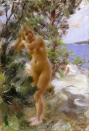 After the Bath painting reproduction, Anders Zorn