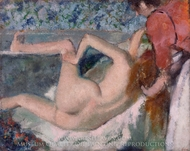 After the Bath painting reproduction, Edgar Degas