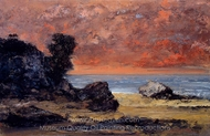 After the Storm painting reproduction, Gustave Courbet