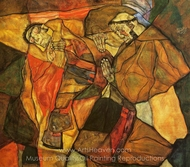Agony painting reproduction, Egon Schiele