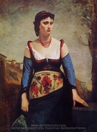 Agostina painting reproduction, Jean-Baptiste Camille Corot