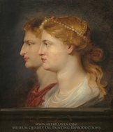 Agrippina and Germanicus painting reproduction, Peter Paul Rubens