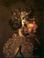 Air painting reproduction, Giuseppe Arcimboldo