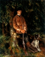 Alfred Berard and his Dog painting reproduction, Pierre-Auguste Renoir